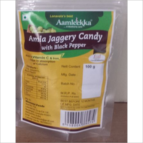 Amla Jaggery Candy With Black Pepper