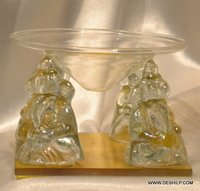 GLASS HANDICRAFTS GANESHA ,GLASS MINIATURES GLASS DISPLAY