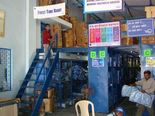 Organised Warehouse rack