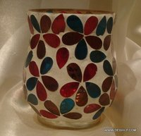 Decor Mosaic Glass Candle Holder Handmade