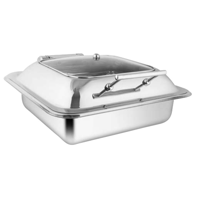 Square Sq Glass Lid Chafer