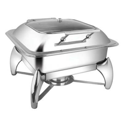 Square Sq Glass Lid Chafer With Smart Legs