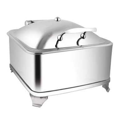 Square SS Lid Chafer With Fuel Frame