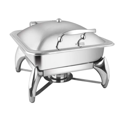 Square SS Lid Chafer With Smart Legs