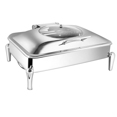 Rectangular Glass Lid Chafer With Neo Leg