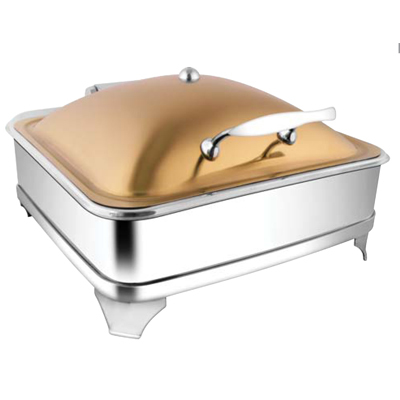 Square Rose Gold Chafer With E E & Frame