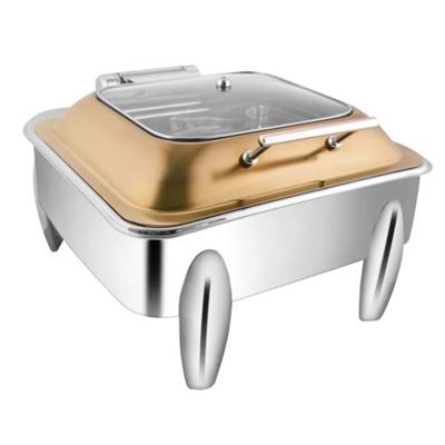 Square Rose Gold Sq Glagg Lid Chafer With Curved Legs