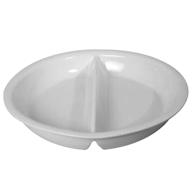 Round Procelain Food Pan With Partition