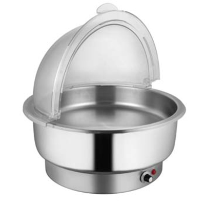 Electric Round SS Chafer (Roll Top Cover)
