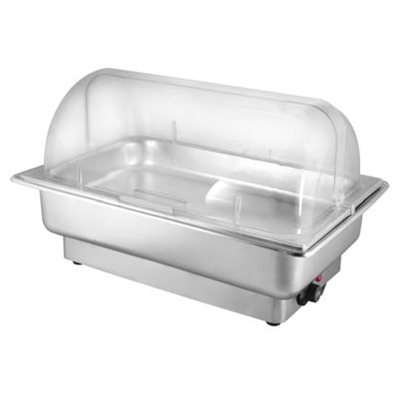 Electric SS Chafer (Roll Top Cover)