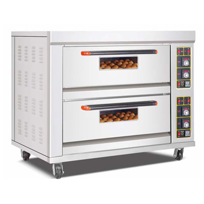 Pizza Oven Double Deck Four Tray