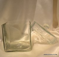 SQUIRE GLASS CLEAR JAR WITH LID
