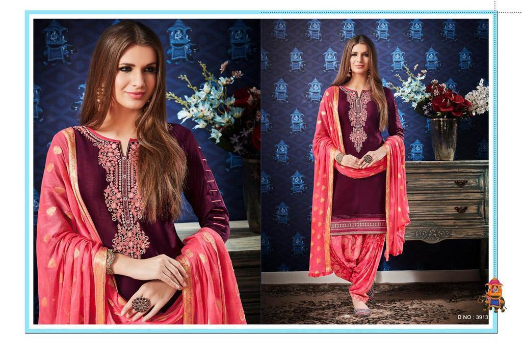Punjabi Embroidery Work Suits