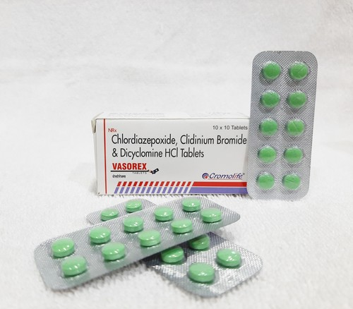 clidinium bromide, chlordiazepoxide & dicyclomine hydrochloride tablet