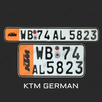 ktm number plate