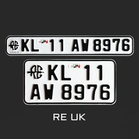 vehicle number plate design