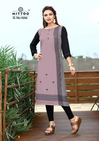 Mittoo Straight Cut Digital Kurtis