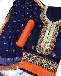 Embroidered Silk Dress Materials