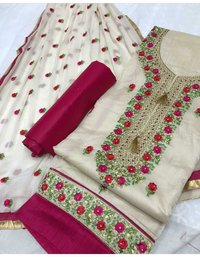 Embroidered Silk Dress Materials
