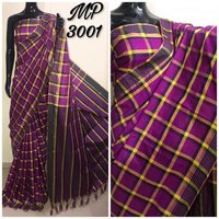 Check Silk Saree
