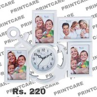Wall Hanging Collage Photo Frame With Clock