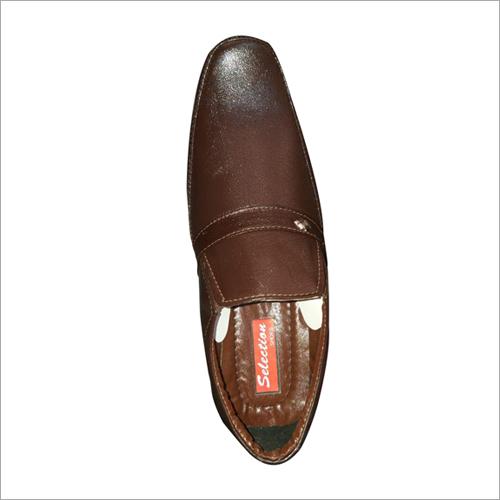 Mens Dark Brown Leather Shoe