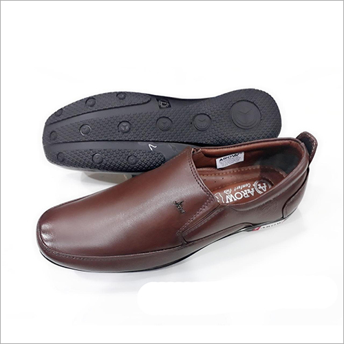 Gents Brown Leather Shoes