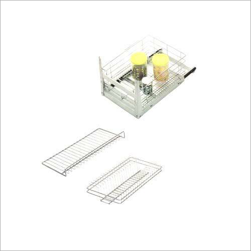 SS Kitchen Glass Tray