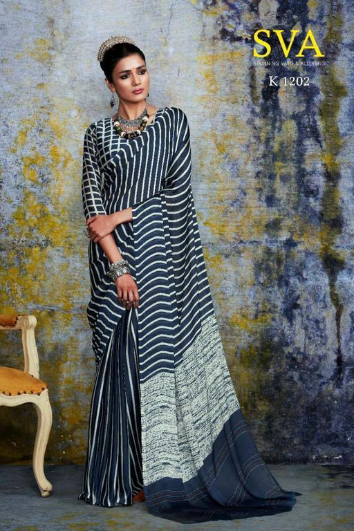 Crepe Silk Printed Sarees