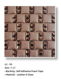LEATHER+GLASS MOSAIC