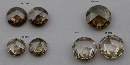 Brown rose cut diamond