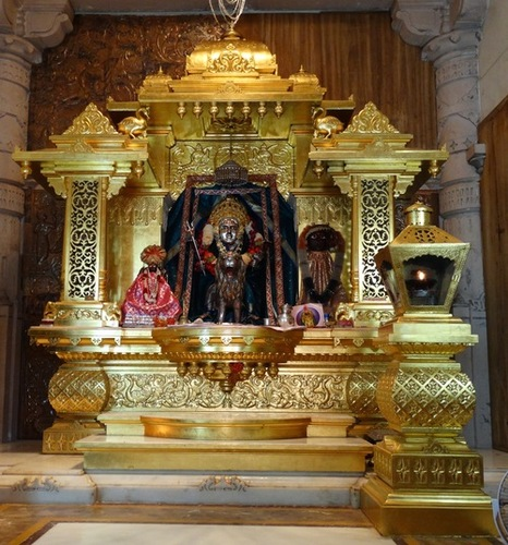 Gold Mounting on Temple God Sinhasan