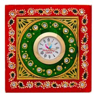 Hand Painted Marble Table Top Clock
