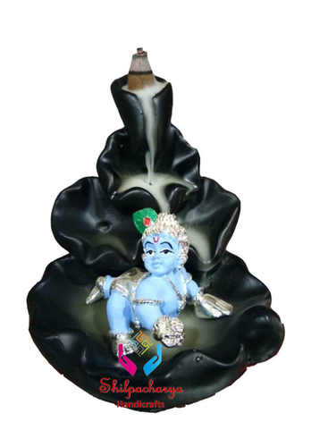 Laddu Gopal Incense Holder Backflow Smoke Fountain