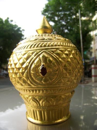 Gold Plated God Mukut
