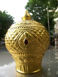 Gold Plated God Mukut