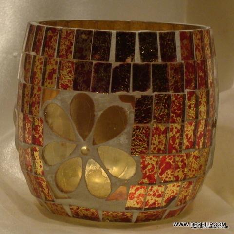 Silver Color Decorative Glass Goblet Votive Candle Holders