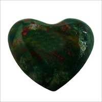 Satyamani Natural Bloodstone Heart Puff Gemstone