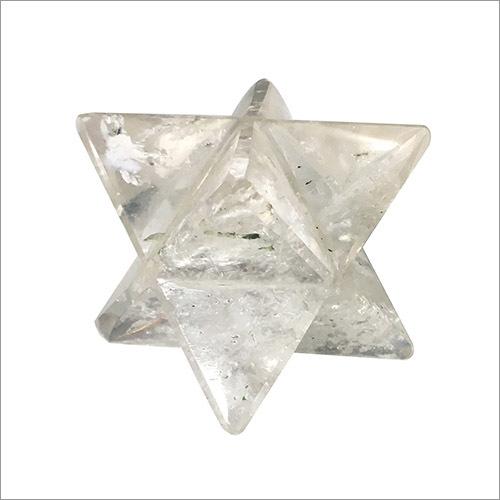 Satyamani Natural Clear Quartz Markaba Star