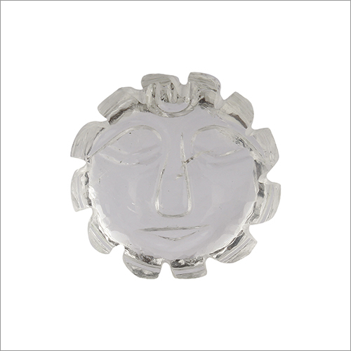 Satyamani Natural Clear Quartz Sun Face