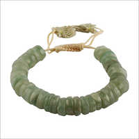 Satyamani Natural Green Aventurine Big Roundello Bracelet