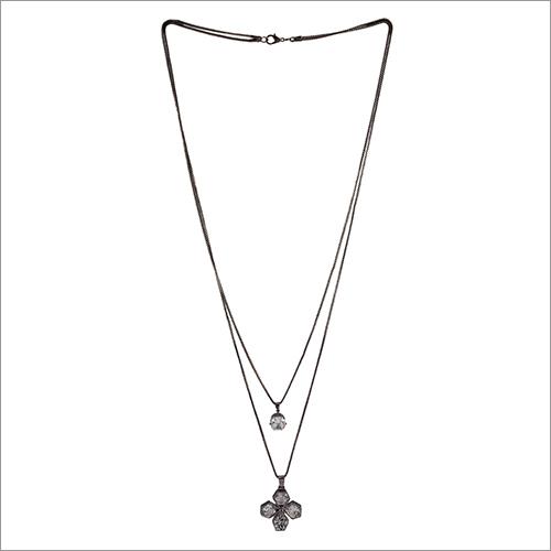Satyamani Double Layer Stylish Oxidized Necklace