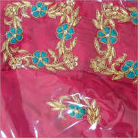 Ladies Thread Work Embroidered Saree