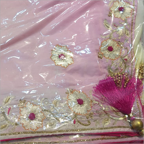 Ladies Floral Embroidery Saree