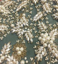 Moti Work  Fabric / Moti Work Machine Embroidery