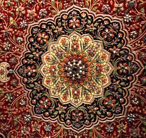 Zardosi Embroidery Fabric / Zardozi Work Fabric