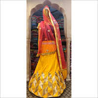 Red Brocade Lehenga