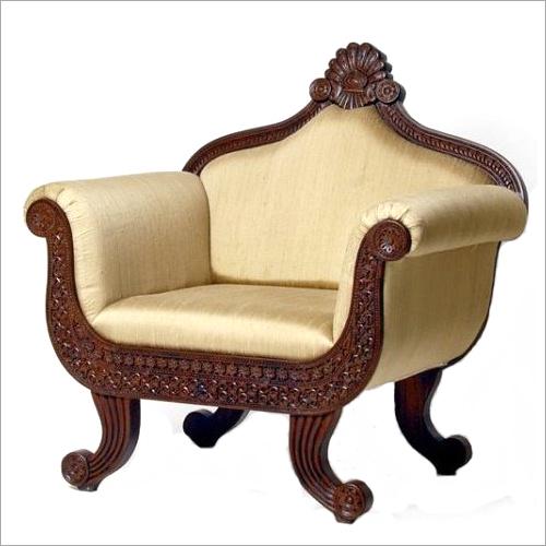 Wooden Designer Single Sofa