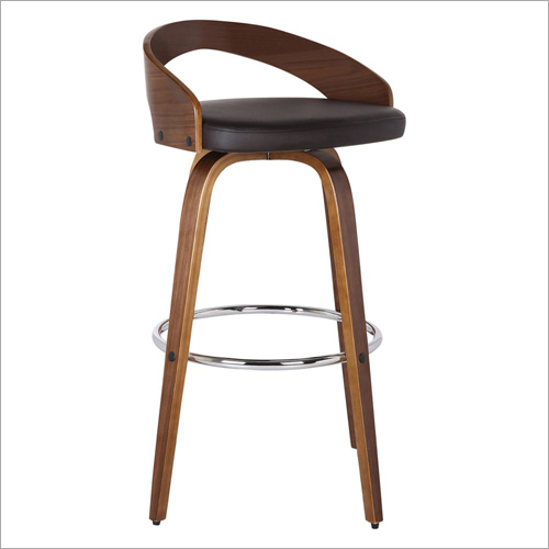 Wooden Revolving Bar Chair