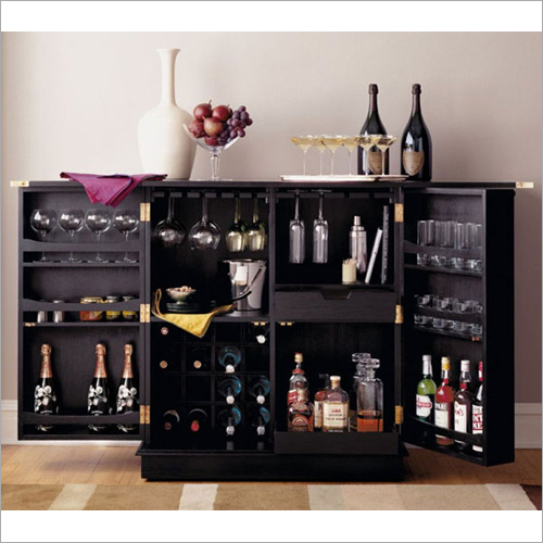 Wooden Designer Bar Cabinet